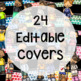 EDITABLE Binder Covers Watercolor Dots and Kids