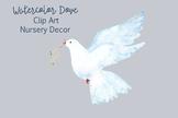 Watercolor Dove - Clip Art