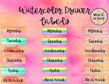 Watercolor Drawer Labels: 3 Styles!