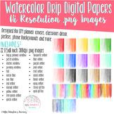 Watercolor Drip Digital Papers