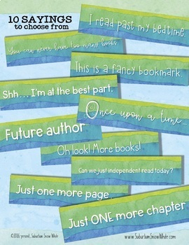 Watercolor EDITABLE Bookmarks