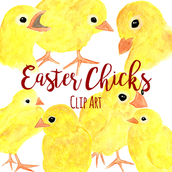 Watercolor Easter Chicks
