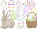 Watercolor Easter Digital Clip Art Set