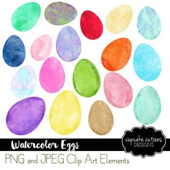 Watercolor Easter Egg Art Digital Set