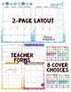 Watercolor Editable Calendar 2017-18 for Teachers
