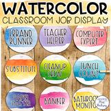 Watercolor Editable Class Jobs Display