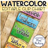 Watercolor Editable Clip Chart