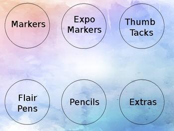 Watercolor Editable Labels!