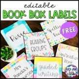 Magazine Box Labels in Watercolor {Editable} FREEBIE!
