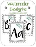 Watercolor Eucalyptus Classroom Decor Alphabet Posters