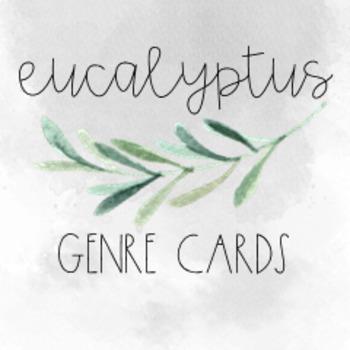 Watercolor Eucalyptus Library Genre Cards Classroom Decor