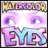 Watercolor Eyes Self-Portrait