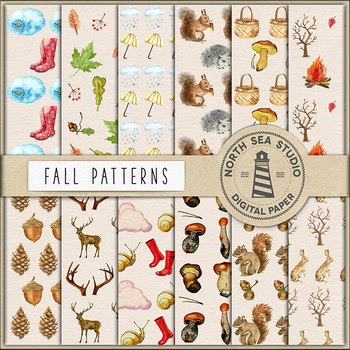 Watercolor Fall Paper - Autumn Backgrounds