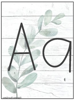 Watercolor Farmhouse Alphabet Posters