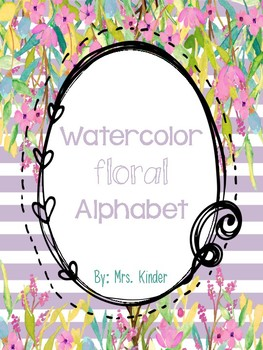 Watercolor Floral Alphabet Posters