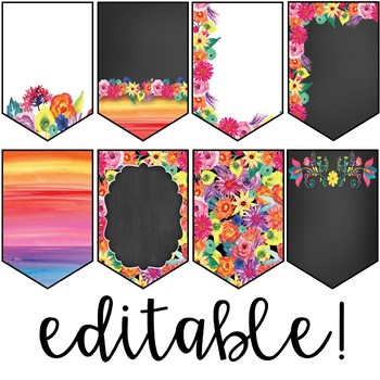 Watercolor Floral Brights - Banners