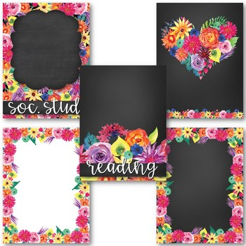 Watercolor Floral Brights - Binder Covers
