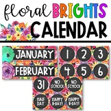 Watercolor Floral Brights - Calendar Display