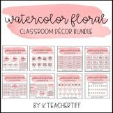 Watercolor Floral Classroom Decor