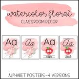 Watercolor Floral Classroom Decor: Alphabet Posters