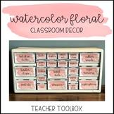 Watercolor Floral Classroom Decor: Teacher Toolbox