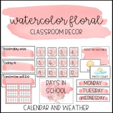 Watercolor Floral Decor: Calendar and Weather