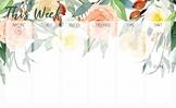 Watercolor Floral Desk Calendar & Notes