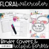 Watercolor Floral - Editable Binder Covers & Helpful Class