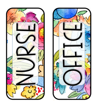 Watercolor Floral - Editable Hall Passes