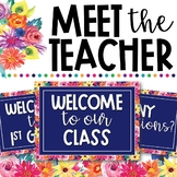 Watercolor Floral Meet the Teacher Presentation - EDITABLE!