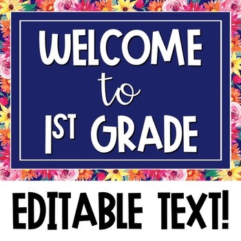Watercolor Floral Meet the Teacher Presentation - EDITABLE!