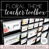 Watercolor Floral Teacher Toolbox Labels {EDITABLE}