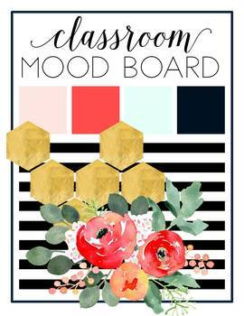 Watercolor Floral Theme Classroom Decor