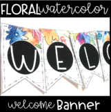 Watercolor Floral Welcome Sign