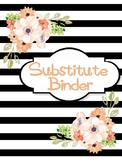Watercolor Floral and Stripes Substitute Binder Cover