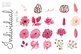 Watercolor Flower Clip Art Handpainted Commercial Use