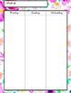 Watercolor Flower Teacher Planner