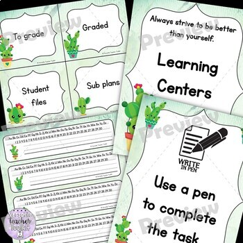 Cute Cactus-themed Classroom Decor and Set Up (Editable)