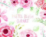 Watercolor Flowers, Floral Clipart, for personal and comme