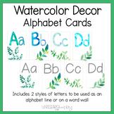 Watercolor Decor Alphabet Word Wall Cards