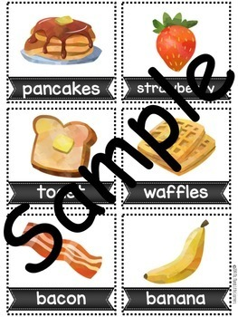 Watercolor Foods Syllable Sort With Recording Sheet