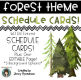 Watercolor Forest Schedule Cards!