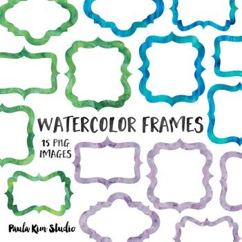 Watercolor Frame Clip Art