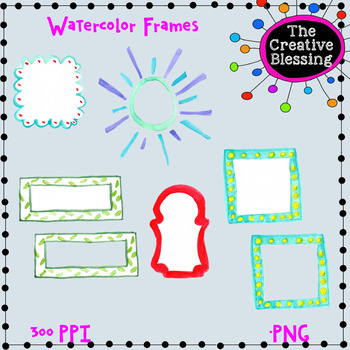Watercolor Frames Clip Art