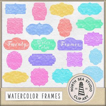 Watercolor Frames Clipart