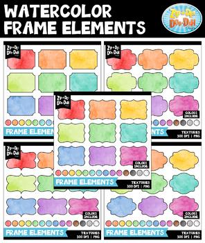 Watercolor Frames Clipart Mega Bundle {Zip-A-Dee-Doo-Dah Designs}