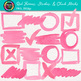 Watercolor Frames, Strokes, & Check Marks Clip Art Bundle {Page Elements}