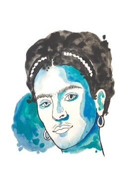 Watercolor Frida Kahlo