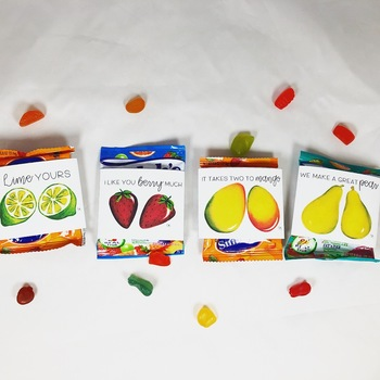 Watercolor Fruit Valentines: Digital Download for Fruit Snack Sleeves