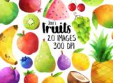 Watercolor Fruits Clipart